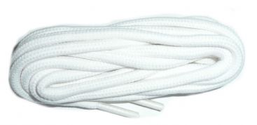 Quality round cord shoe laces 110cm in white